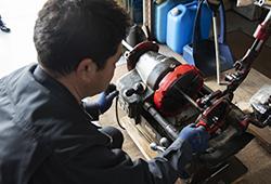 写真:ガスコンセント設置の工事